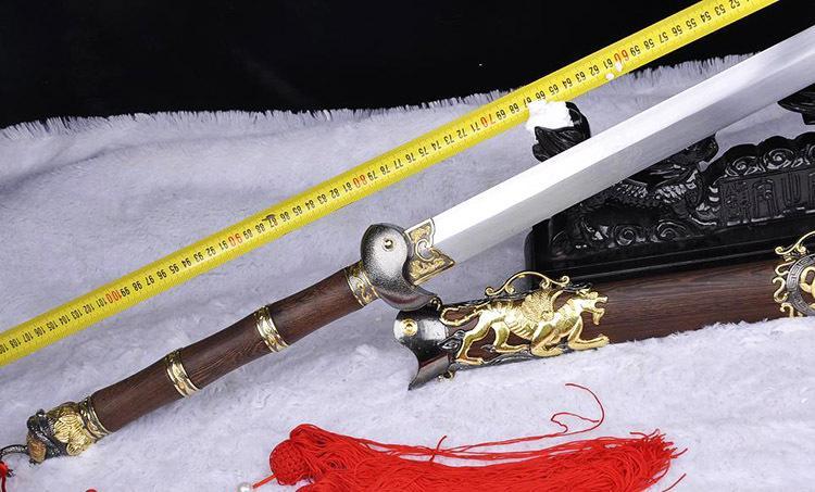 龙泉特色镇宅剑 辟邪剑双色太极阴阳 玄武剑 长剑 硬剑 未开刃