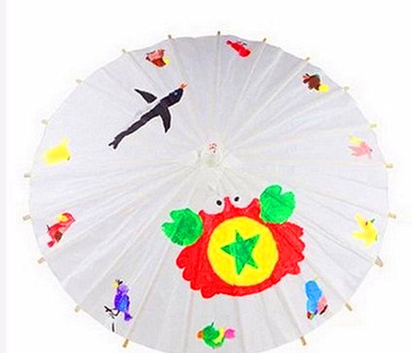 纯白色油纸伞diy纯色手绘画复古典大小吊顶装饰道具伞美术工艺伞